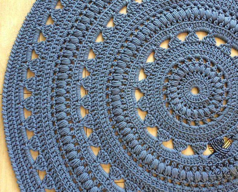 CROCHET RUG Doily rug Round carpet crochet round rug   Etsy