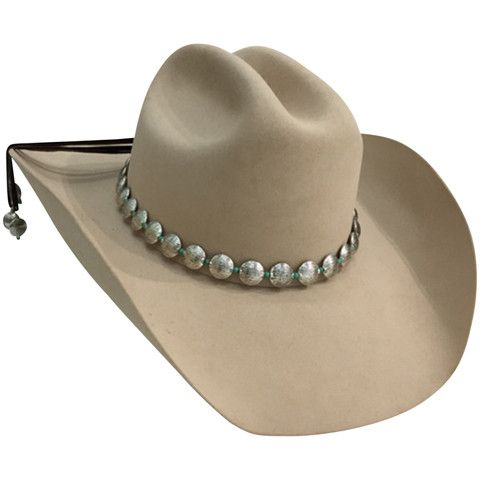59891b0f16f Silver and Turquoise Hat Band | Hats | Cowboy hat bands, Cowboy hats ...