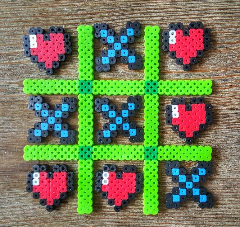 Hama Perler Beads Minecraft Theme Tic Tac Toe Hama Bead