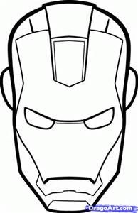 Simple Marvel Coloring Pages Printable Marvel Cake Iron Man Birthday Iron Man Mask