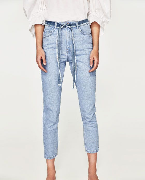 fcf5bcfbc7 Image 3 of HIGH-RISE MOM FIT JEANS from Zara