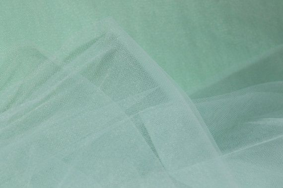 54 Wide Premium Mint Green Nylon Tulle 5 Yards by CreationsbyLSM, $7.70