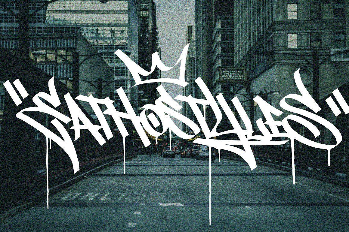 Graffiti font street tag vol1 impossiblemanuallyvectorbonus