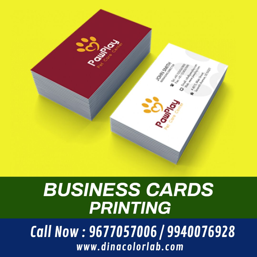 Online Business Cards Printing In Trichy Printing Business Cards Visiting Card Printing Printed Cards
