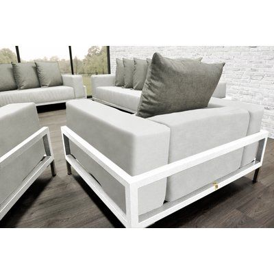 SolisPatio Nubis Patio 4 Piece Lounge Seating Group With Cushions ...
