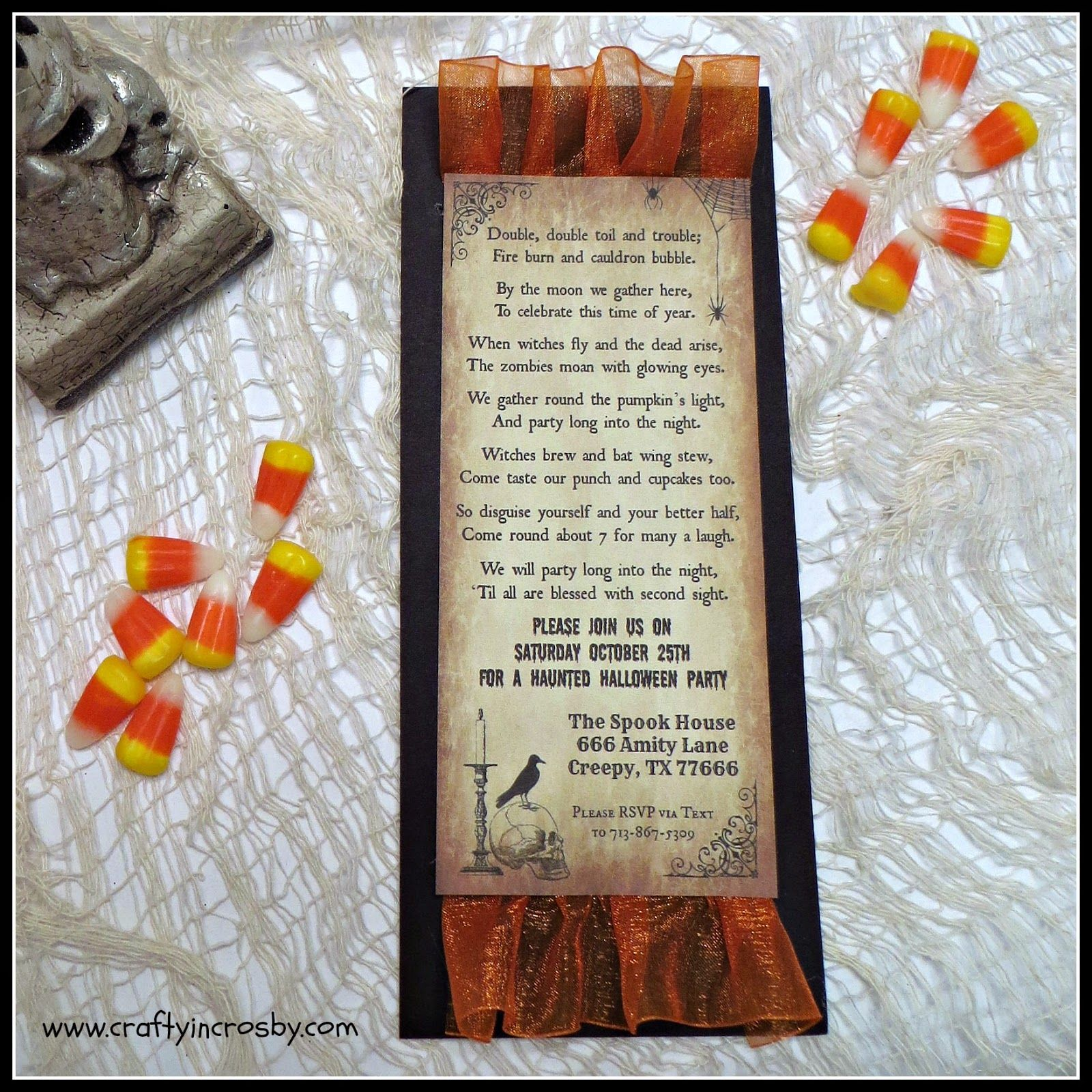 Halloween Party Invitations with our Free Template - Includes an ...