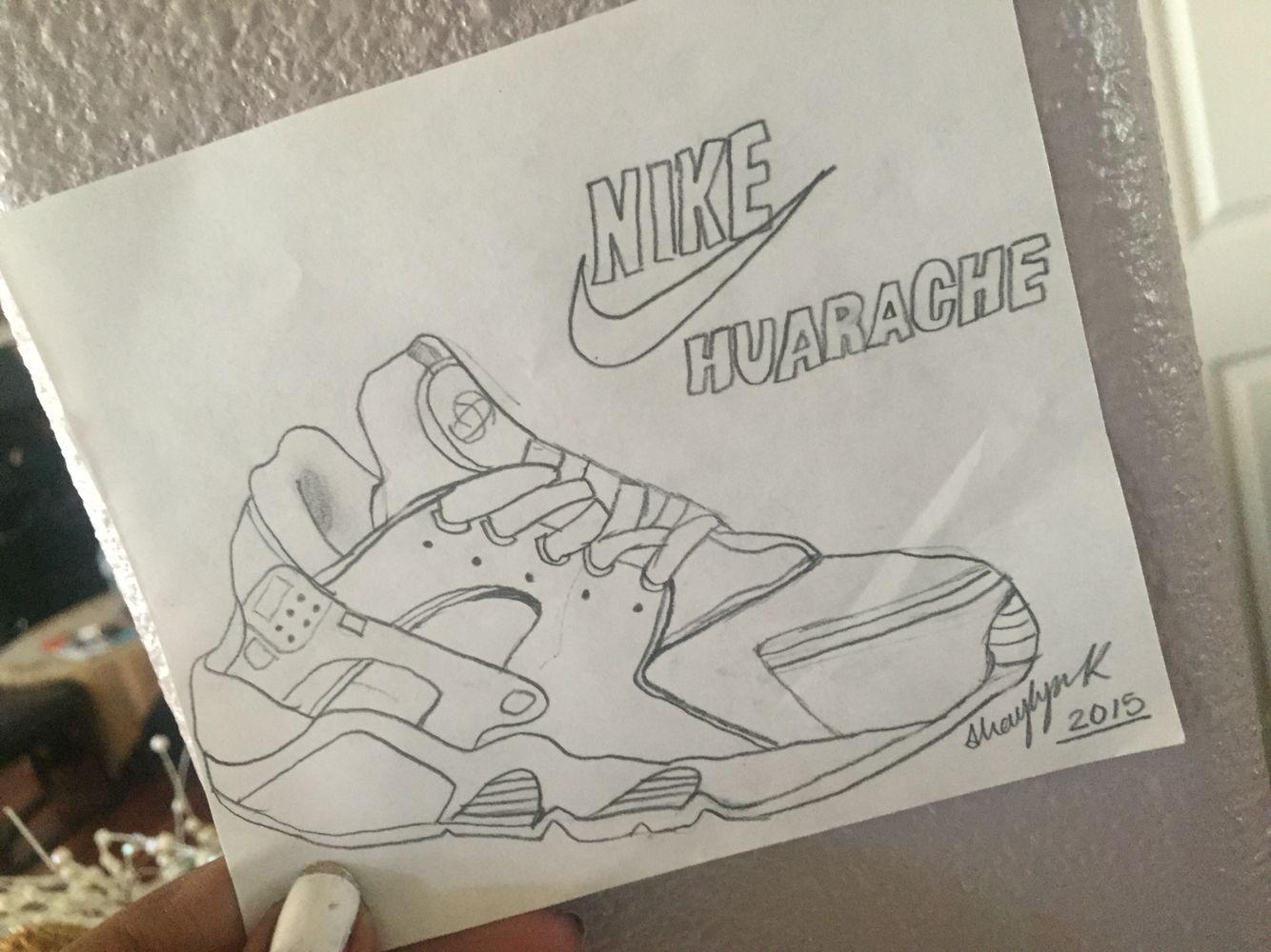 Nike Huaraches Drawing | Best cousin | Nike drawing, Art