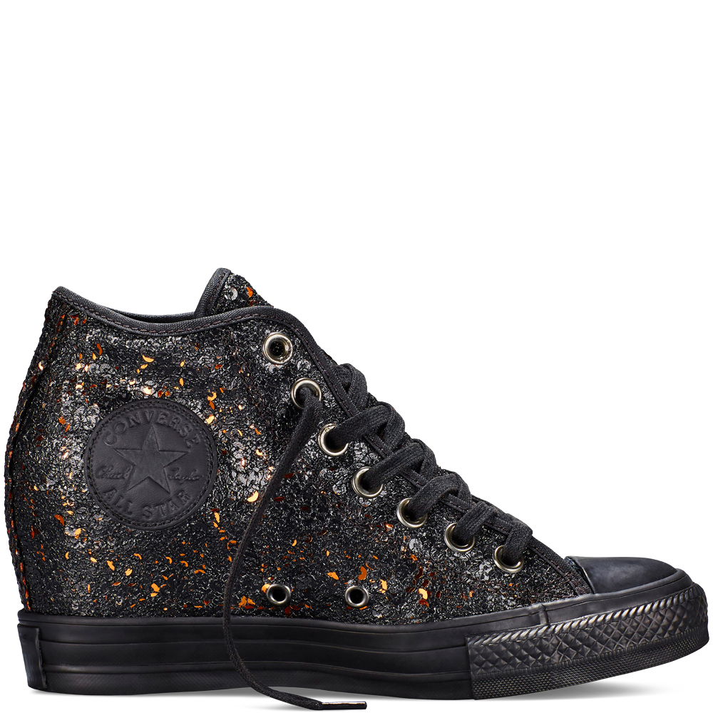 9f0aa3dd4eff Chuck Taylor All Star Lux Wedge Sequins Black black
