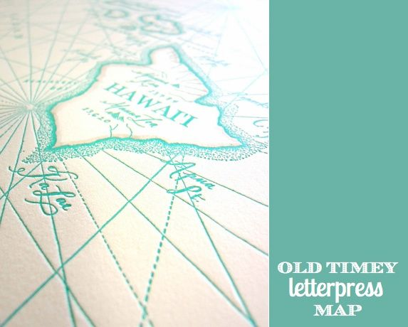Casa Clev ideas / Letterpress map of Hawaii | For the Home