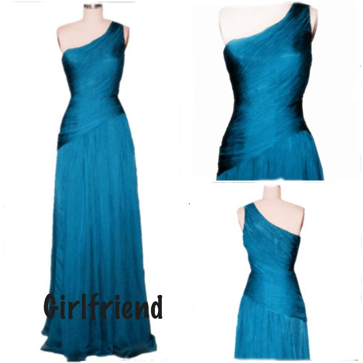 Each of our dress are made to order by hand  Dress code:G0160  Fabric: Chiffon Embellishment: Pleated Silhouette: A-line Sleeve Length: Sleeveless Side Details: Zipper-up Color: see picture  Size: 2,4,6,8,10,12, Custom-made  Each of dress may take 15-20days for processing + 5days for...