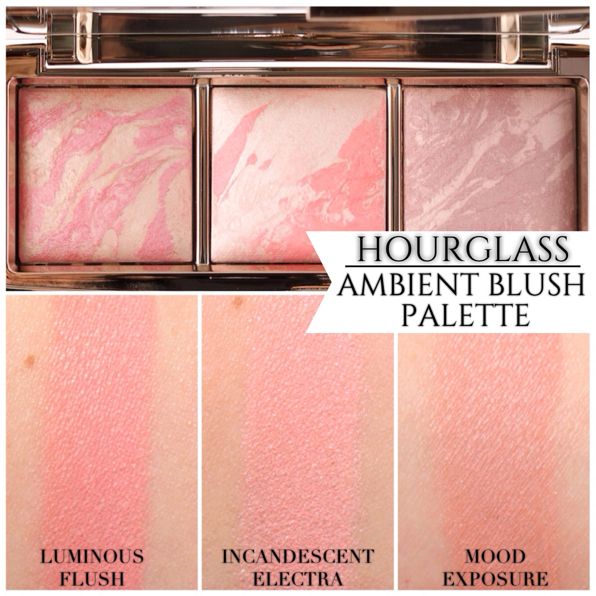 Hourglass Ambient Lighting Blush Palette Review Photos Swatches