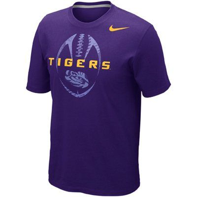 Nike LSU Tigers Football 2012 Team Issue T-Shirt - Purple