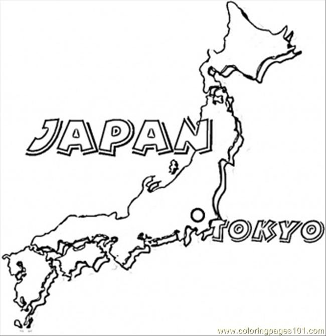Map Of Japan Coloring Page Free Printable Coloring Pages Japan