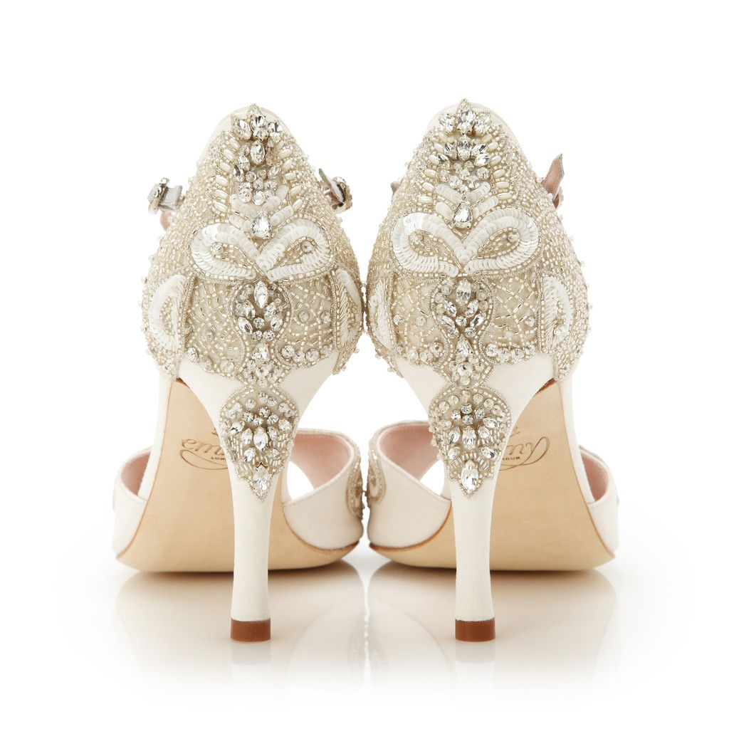 Wedding dress flats  Stunning New Spring  Bridal Shoes from Emmy London  Sandals