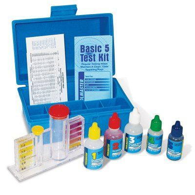 Poolmaster Basic 5-way Deluxe Test Kit with Case for Swimming Pools - 22260
