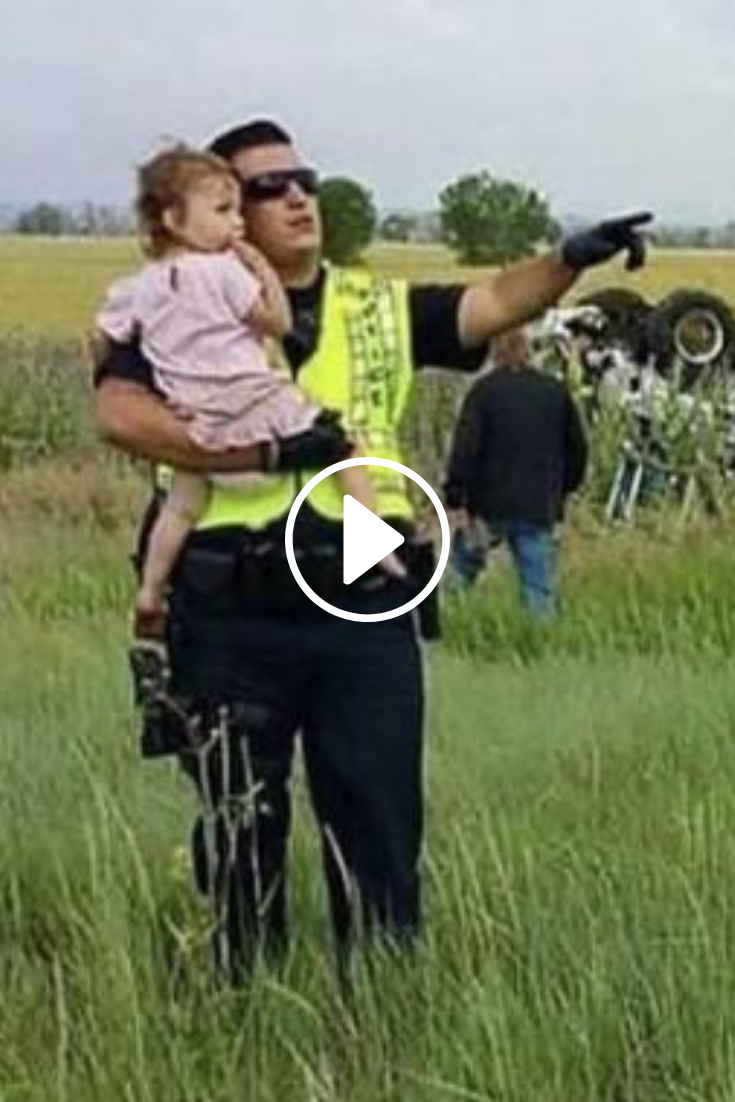 Police Officer Distracts Little Girl After Father Dies In Car Accident