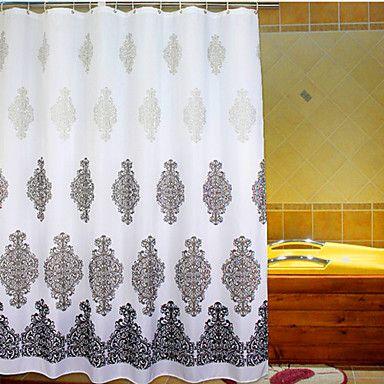 rococo polyester haute qualit rideaux de douche pinterest fleurs grises impression tissu. Black Bedroom Furniture Sets. Home Design Ideas