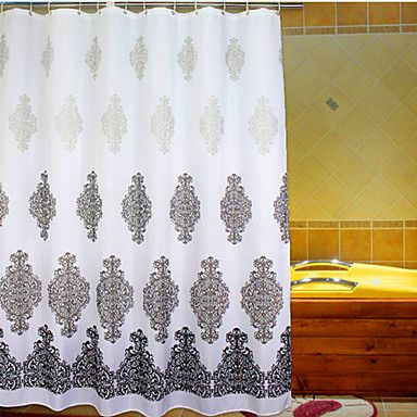 rococo polyester haute qualit rideaux de douche chambre style baroque pinterest baroque. Black Bedroom Furniture Sets. Home Design Ideas