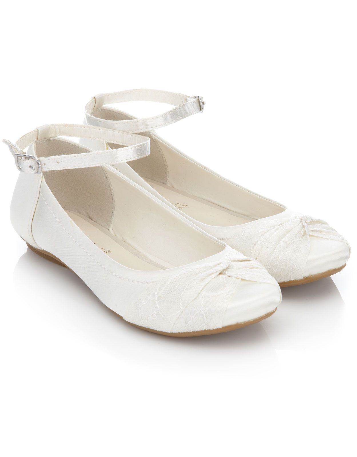 Flat Satin Shoes For Holy Communion Uk