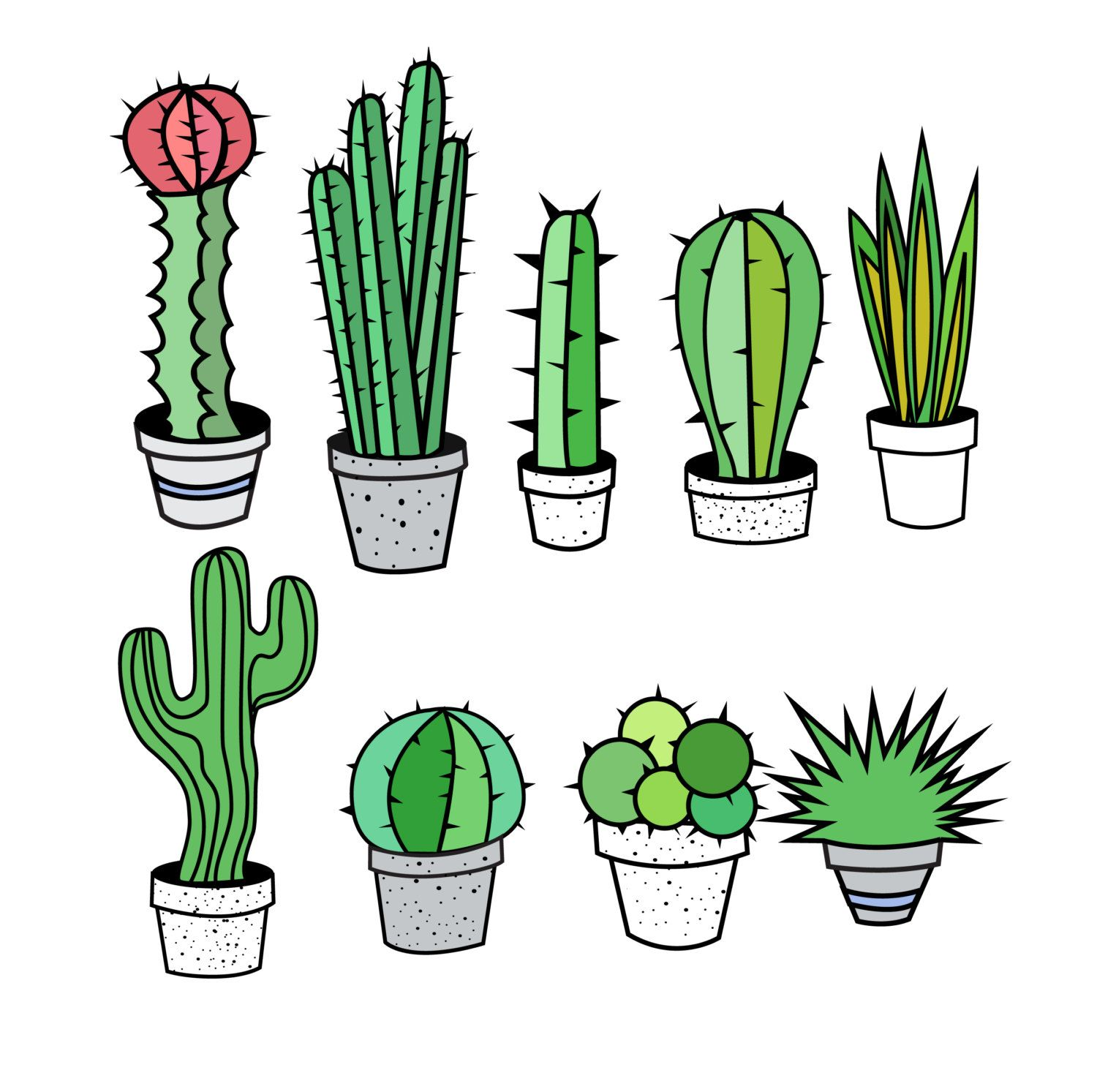 cactus clipart cactus clip art tribal clipart tribal clip art rh pinterest com cactus clip art black and white cactus clip art colored
