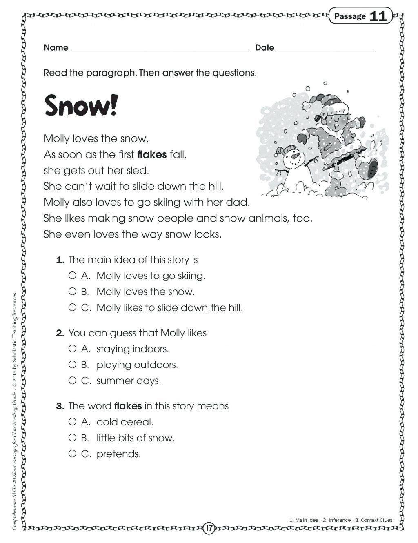 Halloween Main Idea Worksheets Kindergarten Main Idea Worksheets Worksheet  Ideas Prehension   Main idea worksheet [ 1330 x 1024 Pixel ]