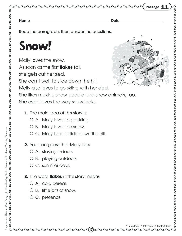 medium resolution of Halloween Main Idea Worksheets Kindergarten Main Idea Worksheets Worksheet  Ideas Prehension   Main idea worksheet