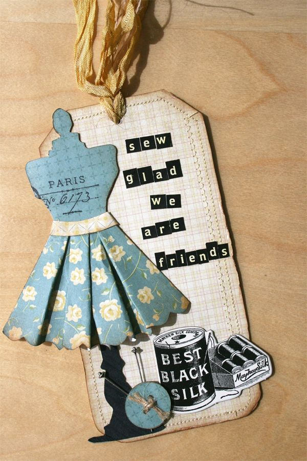 cute sewing-theme tag