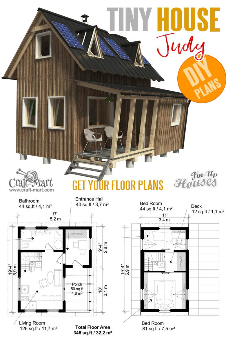 16 Cutest Small And Tiny Home Plans With Cost To Build Craft Mart Tiny House Plans Small House Plans Two Story House Plans