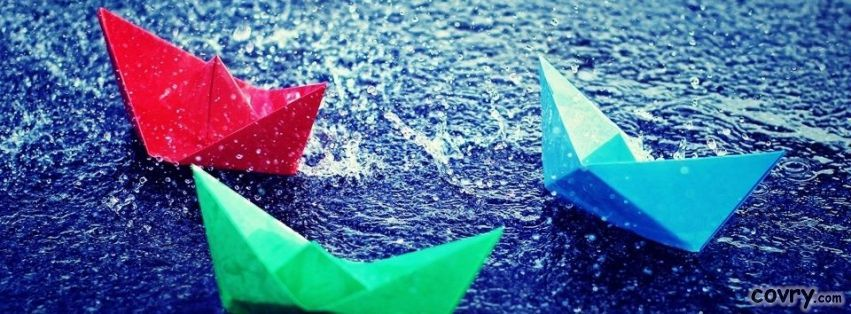 Facebook Cover Photo Rain ~ Paper boats in rain facebook cover fb covers pinterest