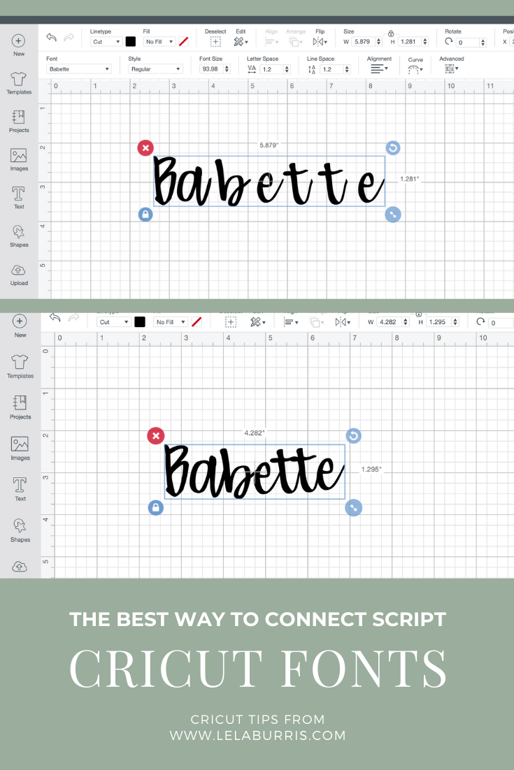 How To Connect Script Fonts In Cricut Design Space - Organized-ish by Lela Burris