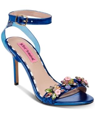Betsey Johnson Alyna Dress Sandals Blue 9M | Betsey johnson