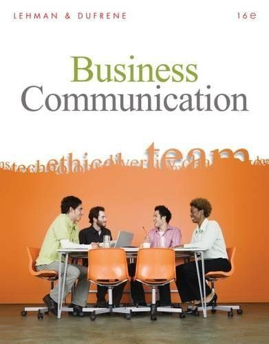 Business communication 16th edition products business communication 16th edition fandeluxe Image collections