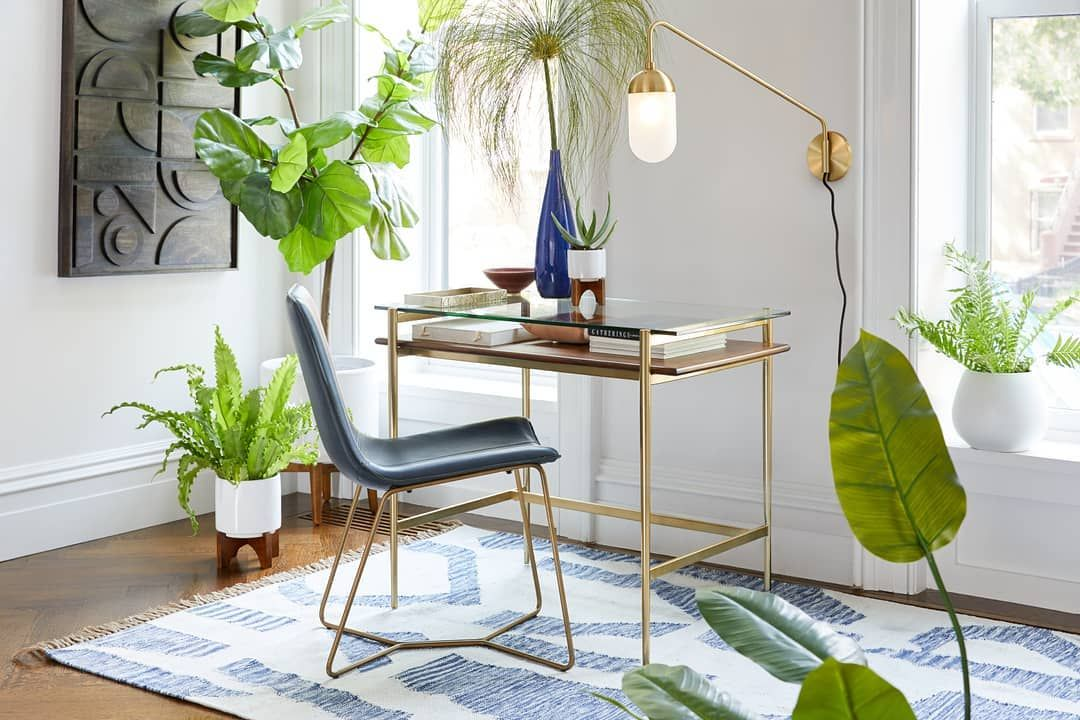 West Elm Australia On Instagram We Re Ready For The Weekend Again In The Meantime We Re Pretty Pleased With O Stylish Desk Desks For Small Spaces Furniture