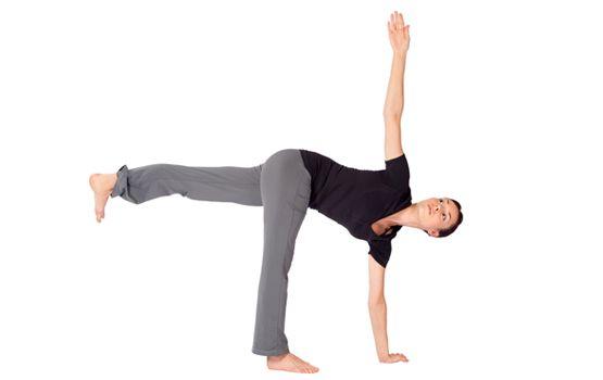 revolved half moon | Standing yoga, Yoga world, Yoga positions