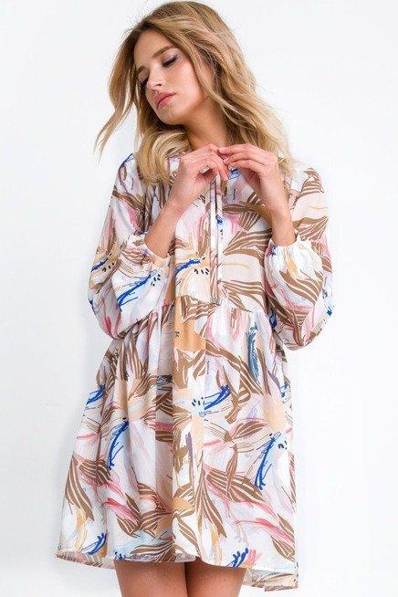 Zwiewna Mini Sukienka Oversize W Kwiaty Na Lato Sukienki Shop Casual Dress Fashion Dresses