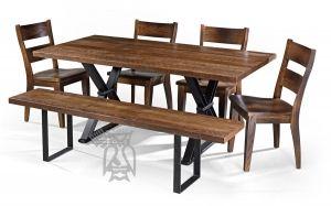 custom built amish crafted solid oak barnwood autumn mills trestle rh pinterest com