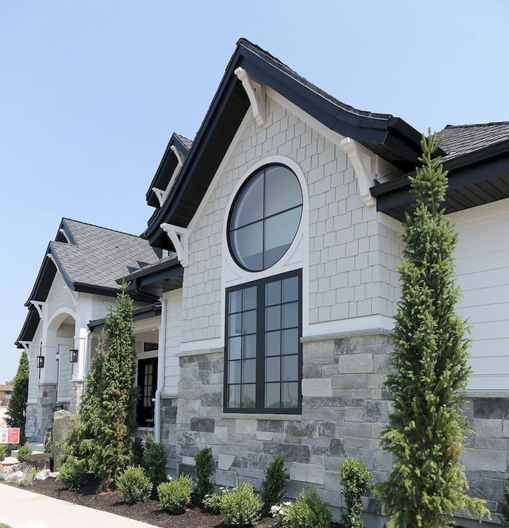 70s Home Exterior Remodel: 70 Fabulous Modern Farmhouse Exterior Design Ideas