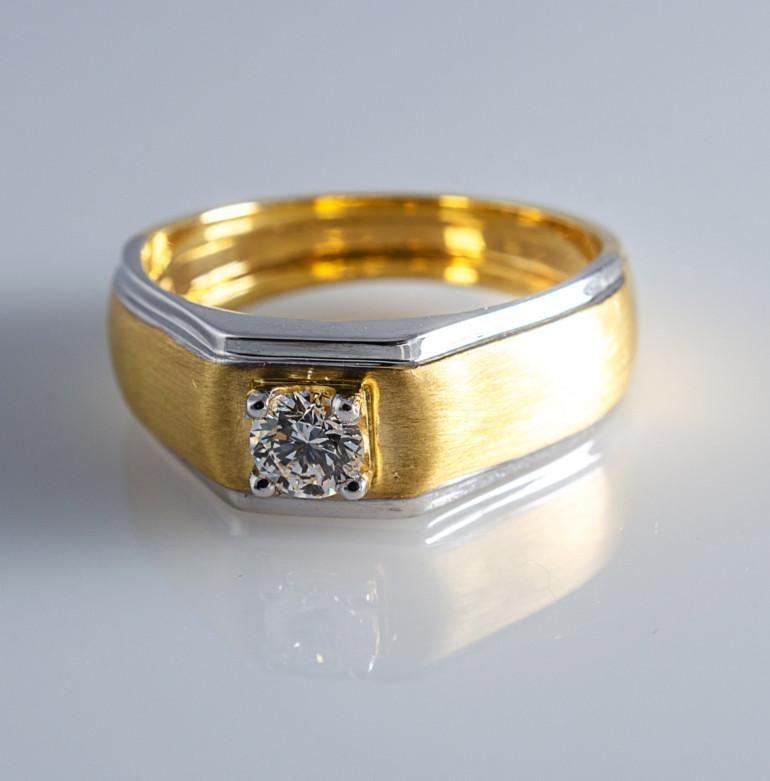 30 Pointer Diamond Solitaire Engagement Ring For Men In 18k Yellow Gold Men Diamond Ring Rings For Men Engagement Rings For Men