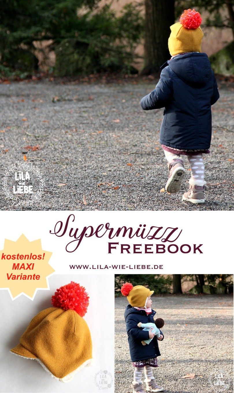 Photo of Supermüzz – winter hat for children … MAXI variant – purple like love kinderm …