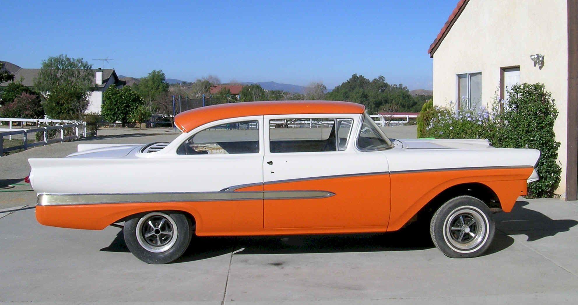 1958 Ford 300 2 Door Sedan Ford Fairlane Orange Car Mercury Cars