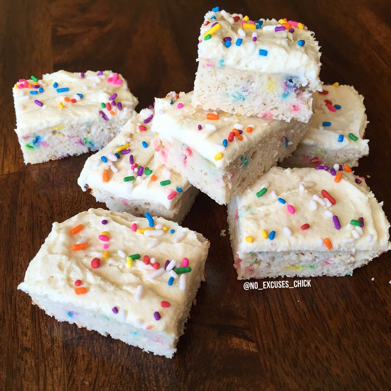 Birthday Cake Protein Blondies Coconut Flour Cashew Butter Or Almond Better Than PB Egg Whites