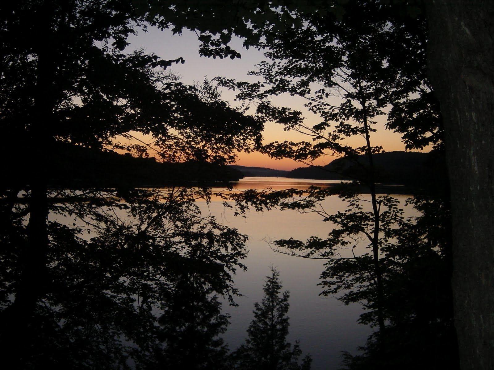 By Heather Hall-Davis. Lake sunset, Quebec