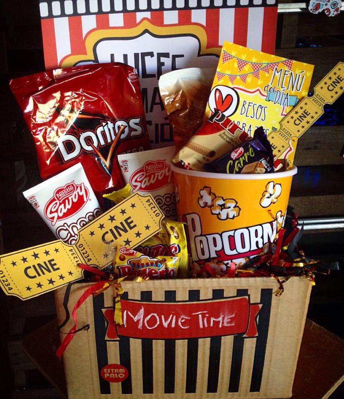Movie time caja de cine para noche de pel culas en casa for Casa regalo