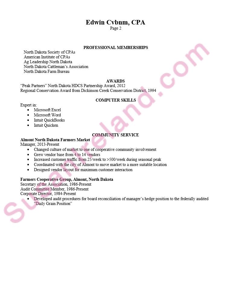 chronologicalresumeexamplecpapg2 Professional resume
