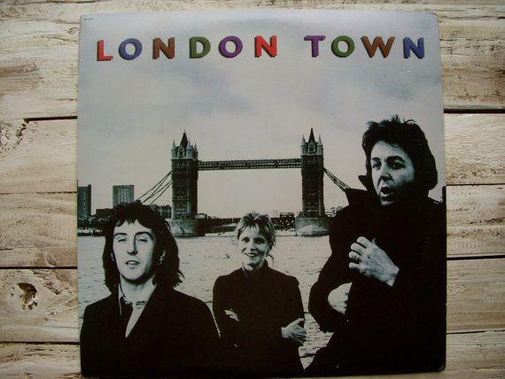 Vintage Paul Mccartney Album London Town Wings Beatles