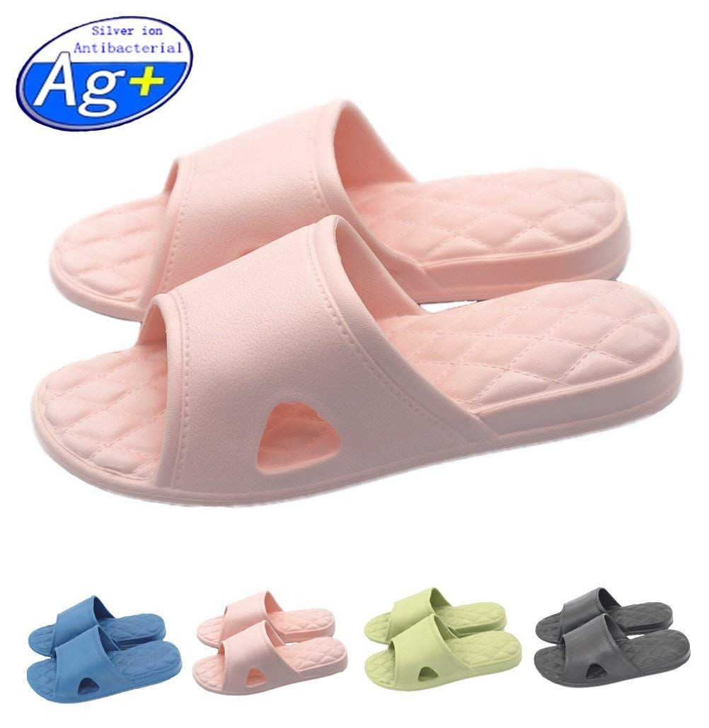 ddcdde293 Happy Lily Women/Men's Slip On Slippers Non-slip Shower Sandals House Mule  Soft Foams Sole Pool Shoes Bathroom Slide Water Shoes * Very nice of you to  have ...