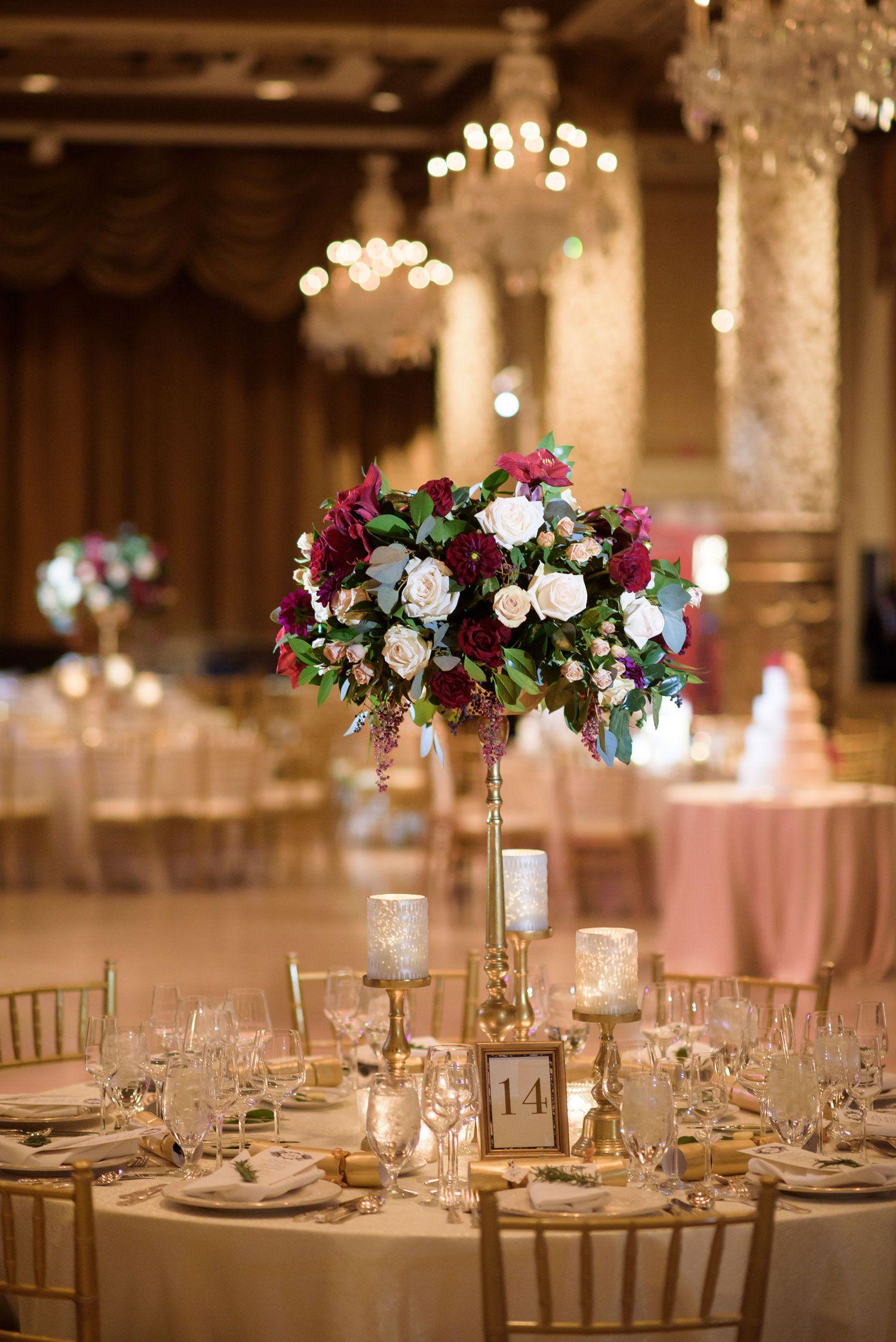 English wedding decoration ideas  Catholic Winter Wedding with English Traditions in Chicago  Winter