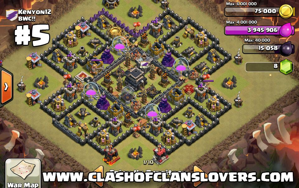 Top 5 Th 9 War Base 11