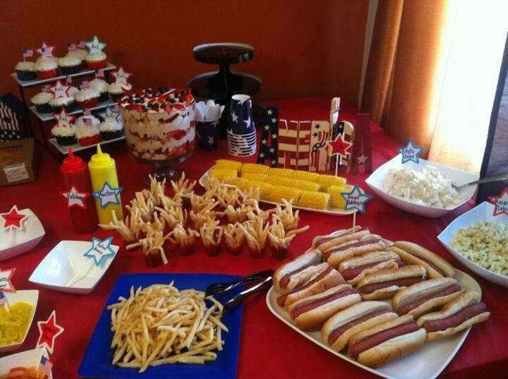 Attractive American Themed Dinner Party Ideas Part - 1: Our All American Themed Party