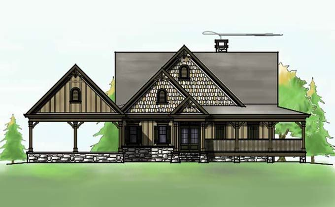 3 Bedroom Open Floor Plan with Wraparound Porch and Basement – House Plans Walkout Basement Wrap Around Porch